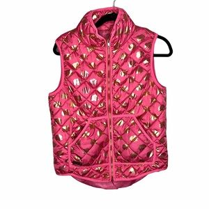 Simply Southern Pink Quilted Elephant Puffer Vest